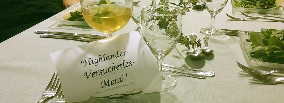 Highlander Menu Speisekarte
