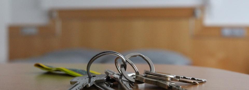 Zimmerschlüssel der Pension Kachelofa